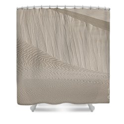 Shower Curtain featuring the photograph Patterns Of Sand by Suzanne Oesterling