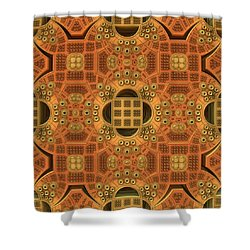 Patterns Within Patterns Shower Curtain by Lyle Hatch