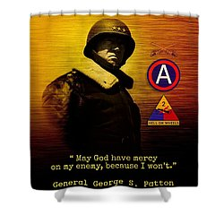 Patton Tribute Shower Curtain