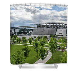 Paul Brown Stadium Color Shower Curtain by Scott Meyer