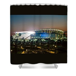 Paul Brown Stadium Shower Curtain by Scott Meyer