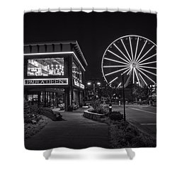 Paula Deen's At Night In Black And White Shower Curtain