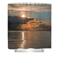 Paved In Gold Shower Curtain