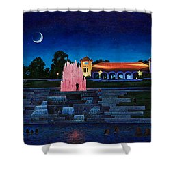 Pavilion Fountains Shower Curtain