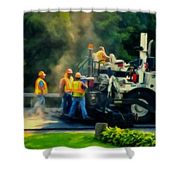 Paving Crew Shower Curtain