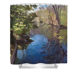 Pawtucket Canal Shower Curtain