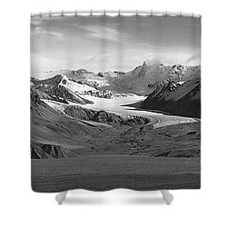 Paxson Glacier Wide Shower Curtain