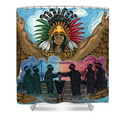 Paz Shower Curtain by Roberto Valdes Sanchez