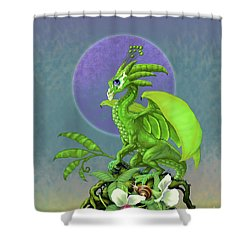 Pea Pod Dragon Shower Curtain