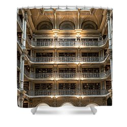 Peabody Library Shower Curtain