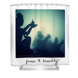Peace And Serenity Shower Curtain by Kartika Kurniasari