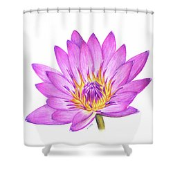Peace And Purity Shower Curtain