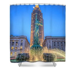 Peace Arising From The Flames Of War Shower Curtain by Brent Durken