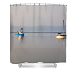 Peace At Anchor Shower Curtain by Mike  Dawson