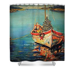 Peace At Christmas Shower Curtain