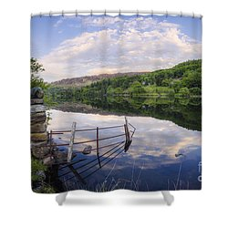 Peace At The Lake Shower Curtain by Ian Mitchell