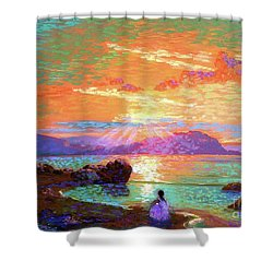 Peace Be Still Meditation Shower Curtain