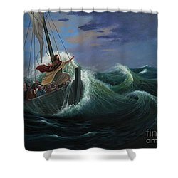 Peace Be Still Shower Curtain by Michael Nowak