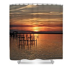 Peace Be With You Shower Curtain by Roberta Byram