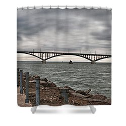 Peace Bridge Shower Curtain