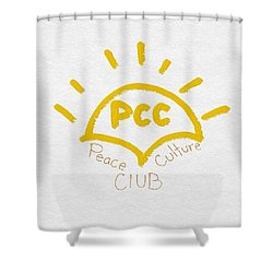Peace Culture Club Logo Shower Curtain by Joshua Stepney