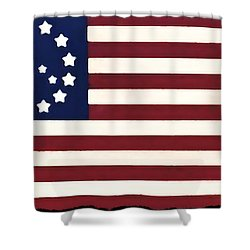 Peace Flag Shower Curtain by Bill Cannon