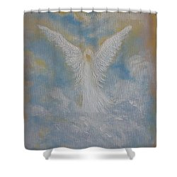 Peace From An Angel  Shower Curtain