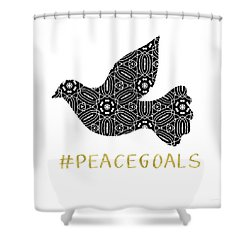 Peace Goals- Art By Linda Woods Shower Curtain