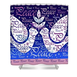 Peace Holiday Card Shower Curtain