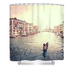 Peace In Venice Shower Curtain
