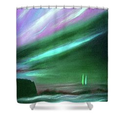 Peace Is Colorful 2 - Vertical Painting Shower Curtain