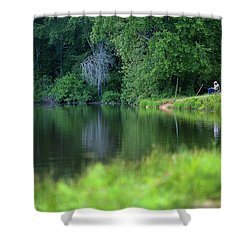 Shower Curtain featuring the photograph Peace by Lori Coleman