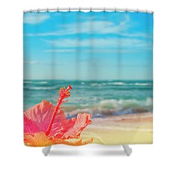 Shower Curtain featuring the photograph Peace Love And Aloha by Sharon Mau