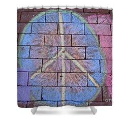 Peace Shower Curtain by Michael Krek