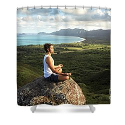 Peace On A Hillside Shower Curtain by Brandon Tabiolo - Printscapes