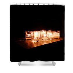 Peace On A Stormy Night Shower Curtain