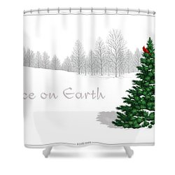Peace On Earth Shower Curtain by Scott Ross