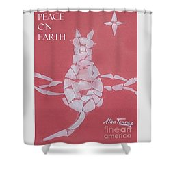 Shower Curtain featuring the painting Peace On Earth by Stan Tenney