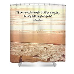 Shower Curtain featuring the photograph Peace by Peggy Hughes