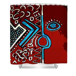 Peace Pipe Shower Curtain