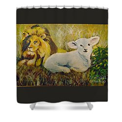 Shower Curtain featuring the painting Peace by Saundra Johnson