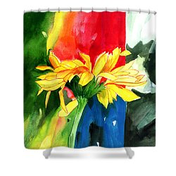 Peace Square Shower Curtain by Anil Nene