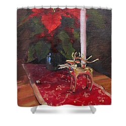 Shower Curtain featuring the painting Peace To All by Laura Lee Zanghetti