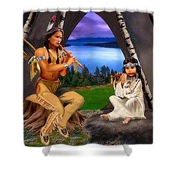 Peace With Harmony Shower Curtain