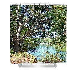 Shower Curtain featuring the photograph Peaceful Autumn Lake  by Irina Sztukowski