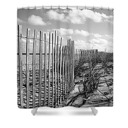 Peaceful Beach Scene Shower Curtain by Denise Pohl