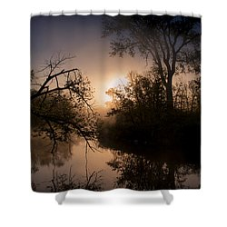 Peaceful Calm Shower Curtain by Annette Berglund