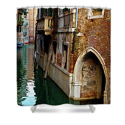 Peaceful Canal Shower Curtain by Harry Spitz
