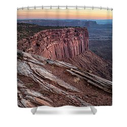 Peaceful Canyon Morning Shower Curtain