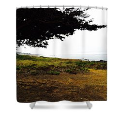 Peaceful Coast Shower Curtain by Russell Keating